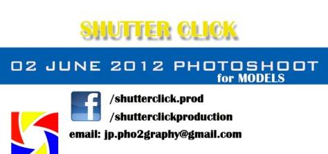 shutter click open photoshoot poster