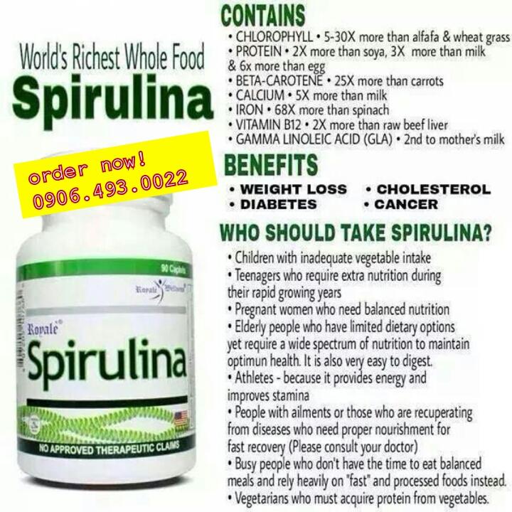 Benefits of spirulina   Royale Store Manila