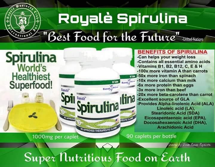 spirulina royale fogyás ellen